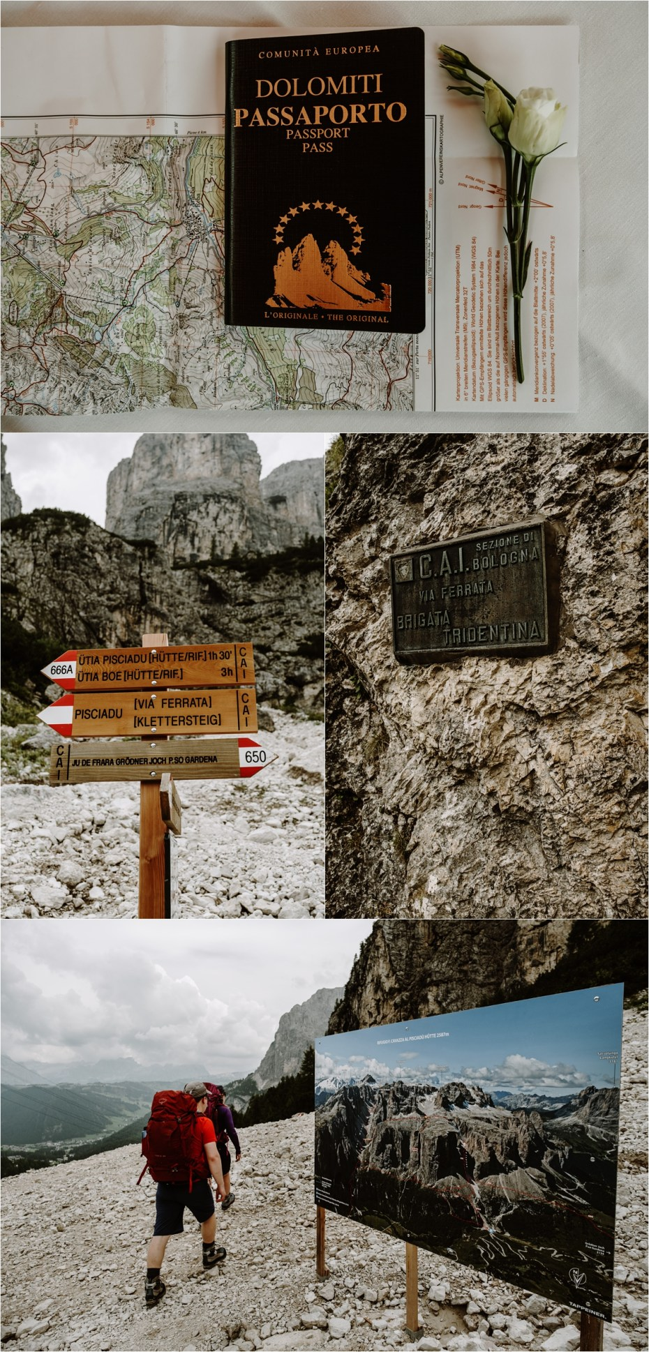 Brigata Tridentina via ferrata in Colfosco. Photo by Wild Connections Photography