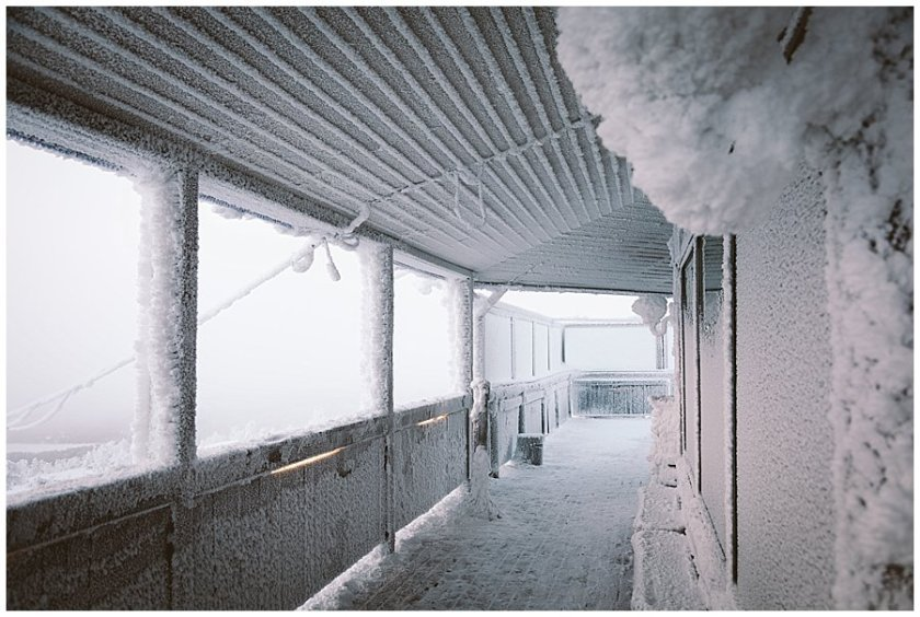 A frozen balcony in Levi ski resort in Finland by Wild Connections Photography