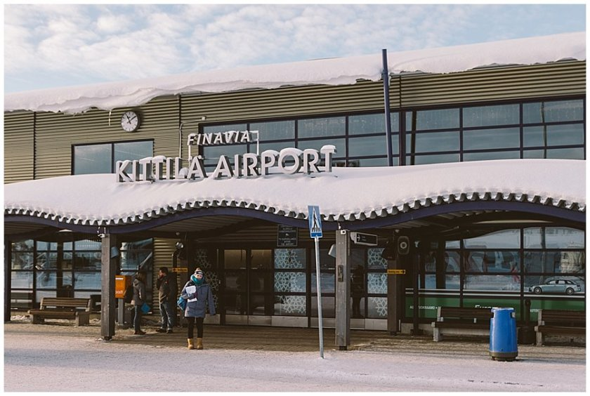Cat stands outside Kittilä Airport Lapland