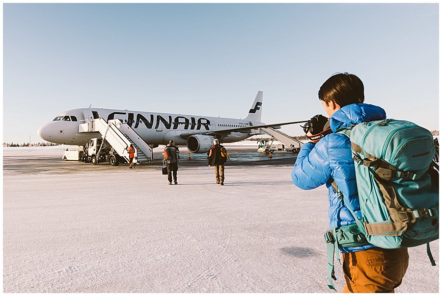 Finnair Lapland Menno takes pictures of the plane
