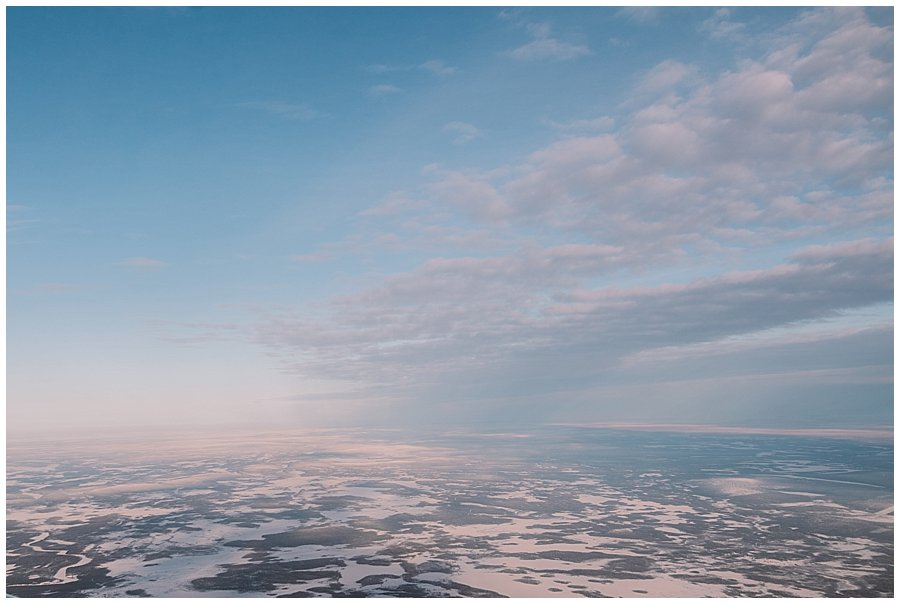 Finnish Lapland view from the plane by Wild Connections Photography