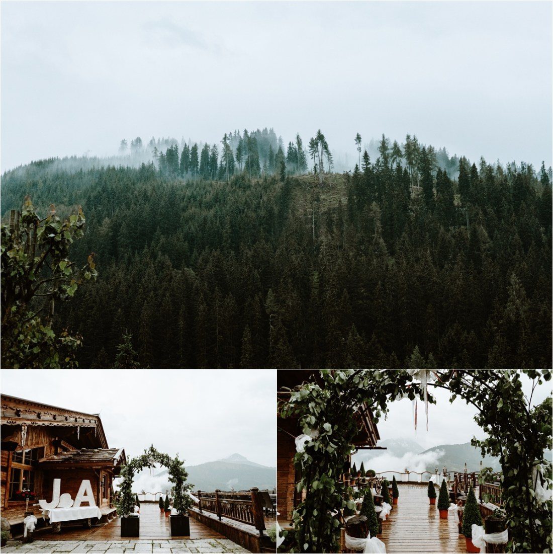 The perfect setting for a mountain chalet wedding at the Rössl Alm in Gerlos, Austria. Photos by Wild Connections Photography