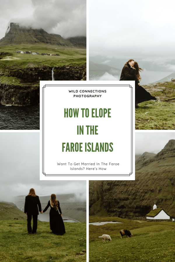 How to elope in the Faroe Islands Pinterest Graphic by Wild Connections Photography