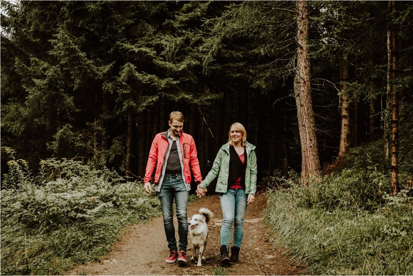 An adventure session in Igls with Lucy the Aussie sheepdog by Wild Connections Photography