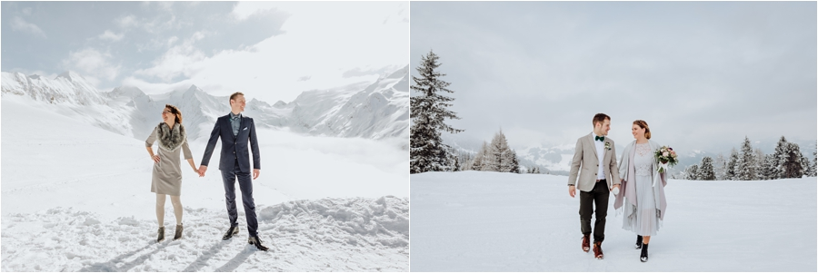 Winter wedding sunny versus overcast by Wild Connections Photography