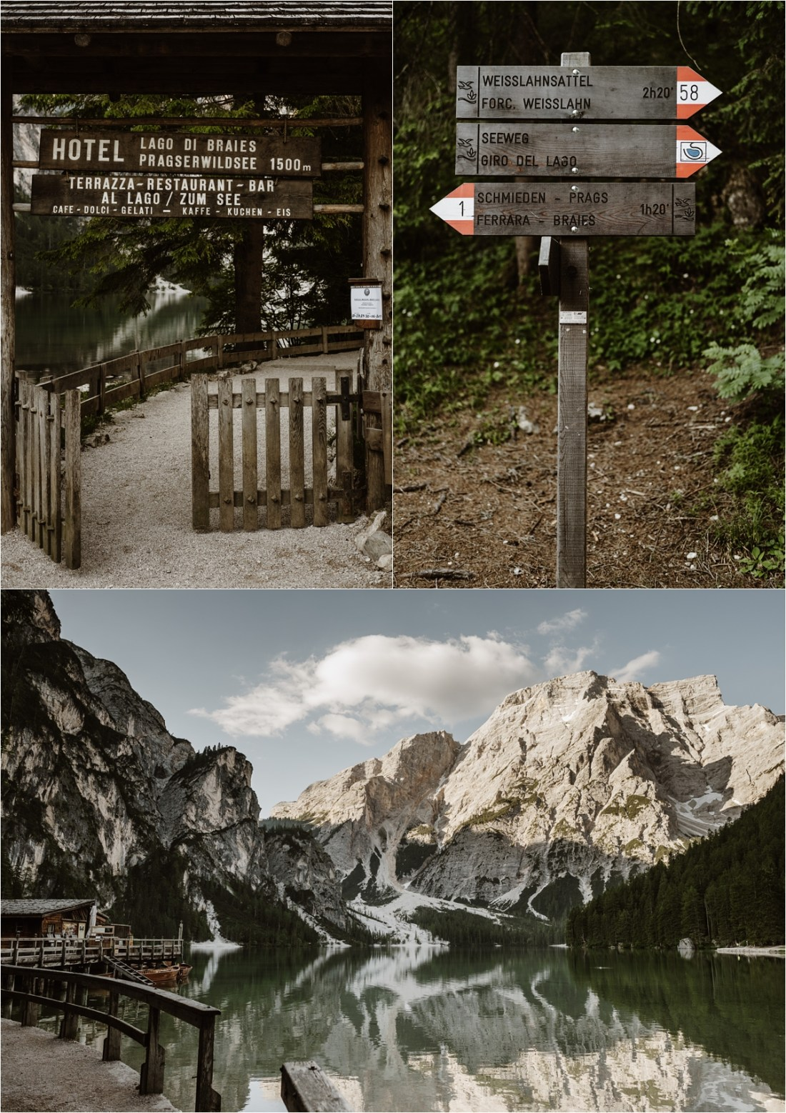 Early morning at Lago di Braies. Photography by Wild Connections Photography