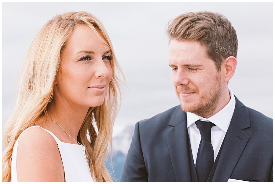 Lee looks lovingly at Steph as they say their vows