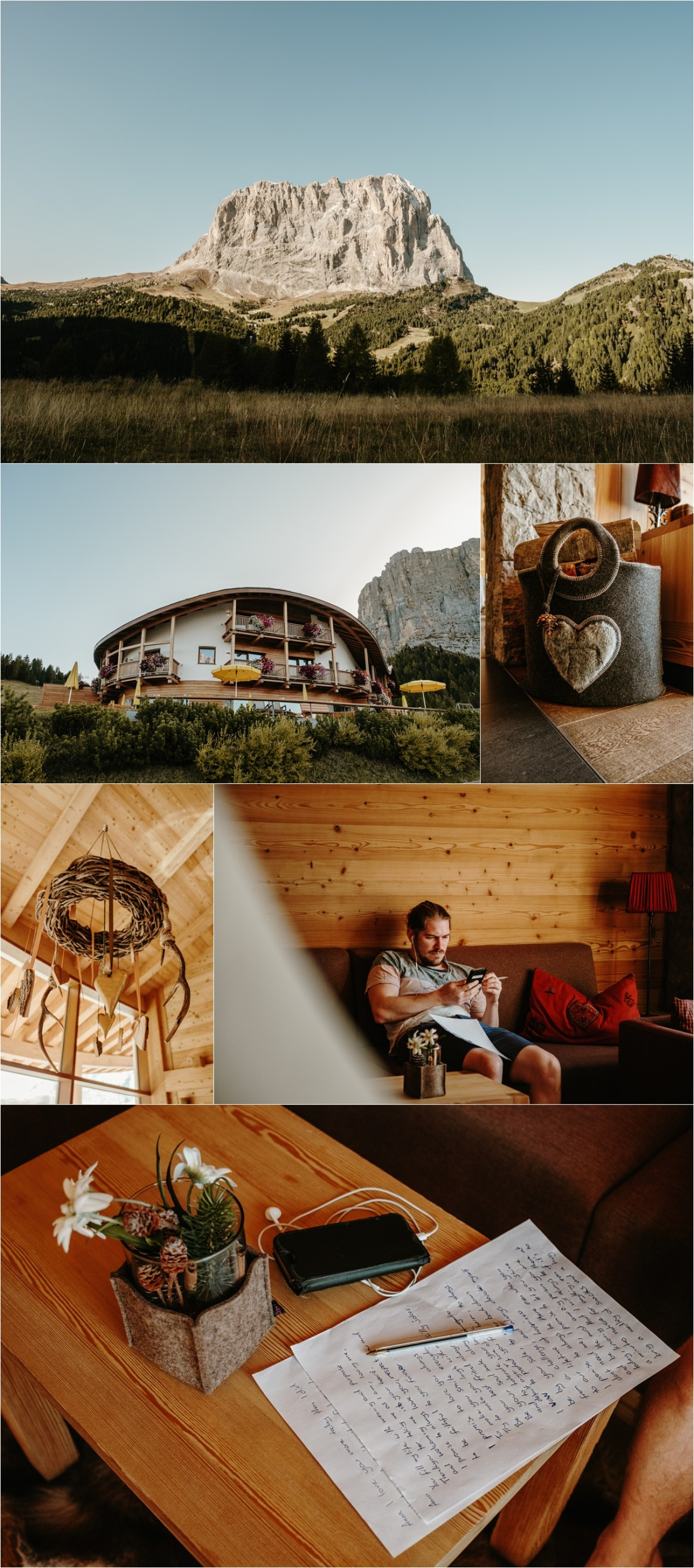 An intimate fall elopement in the Dolomites at Hotel Chalet Gerard. Photos by Wild Connections Photography