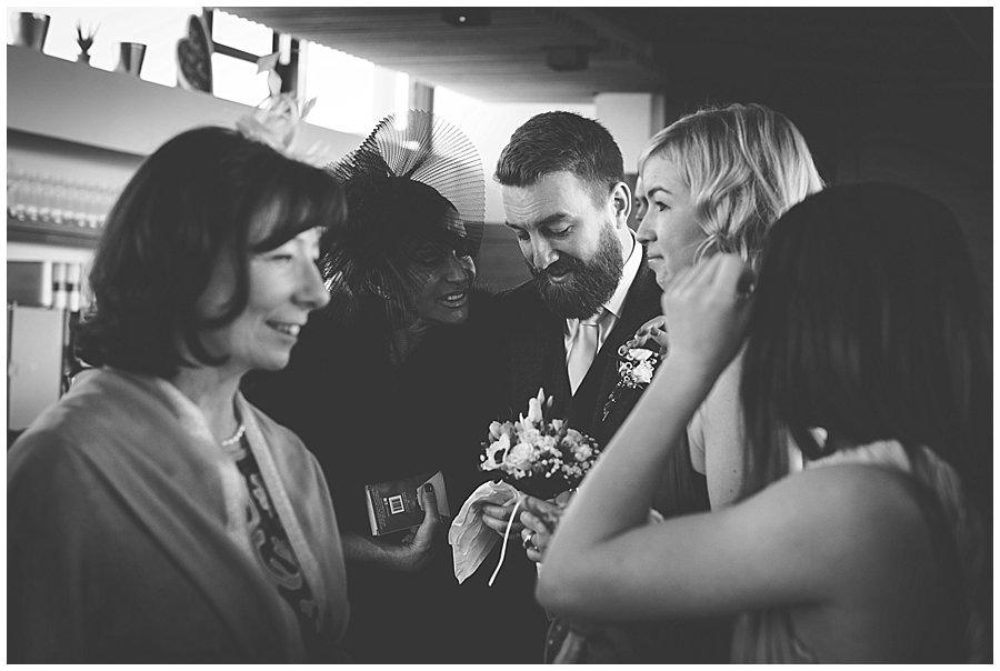 Dan sheds a few tears when his mother congratulates him