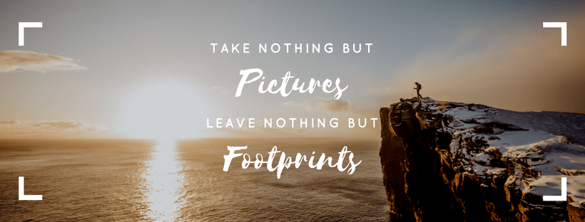 Leave no trace adventure wedding - take nothing but pictures