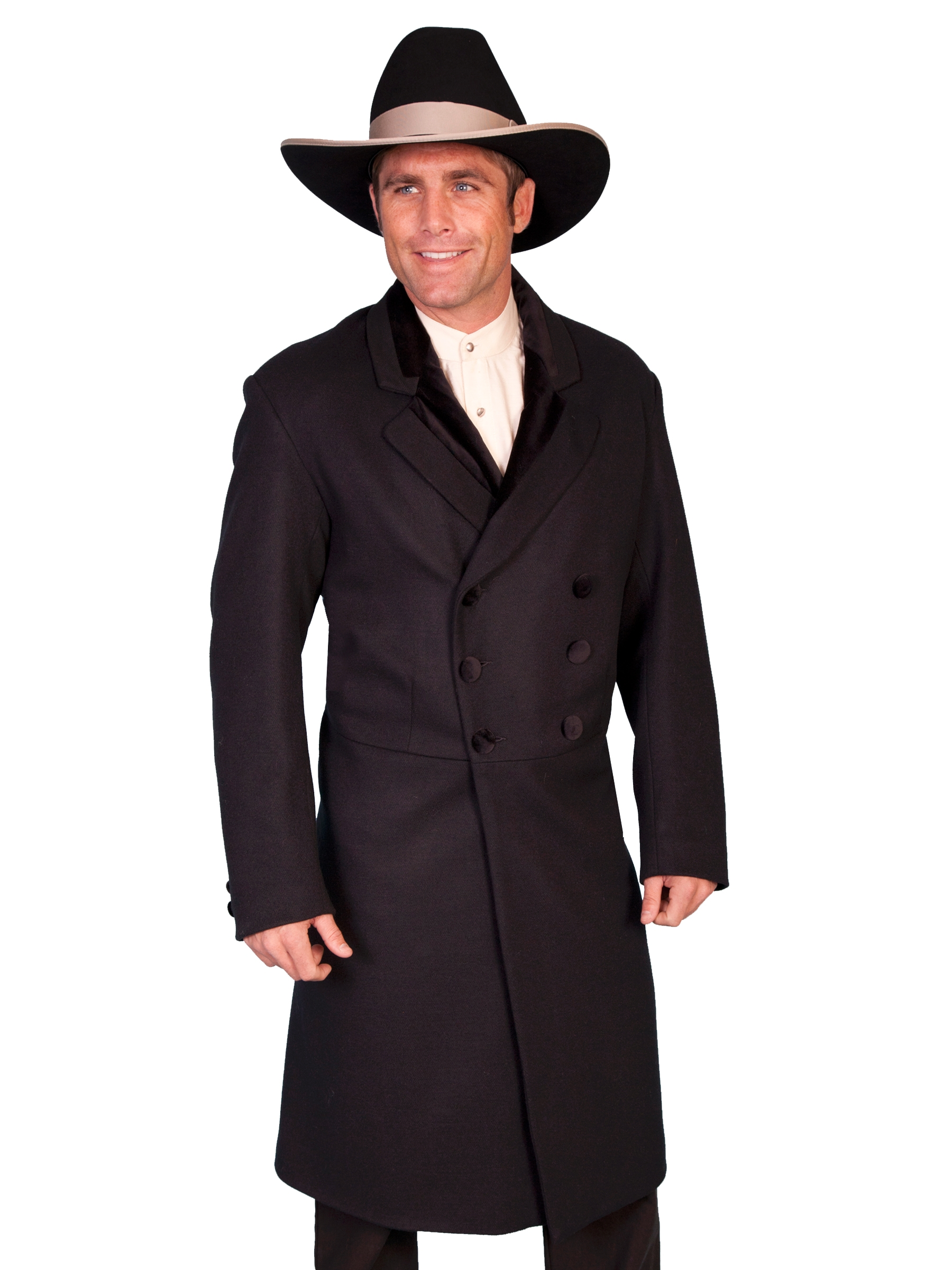 Mens Old West Frock Coats Mens Scully Wool Frock Coat