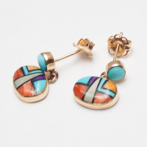 Gold Multicolour Zuni Earrings