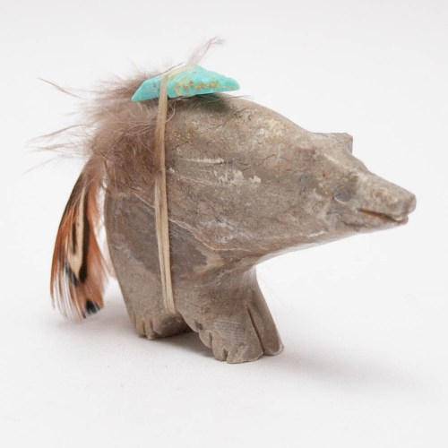 Jasper Turquoise Feather Bear
