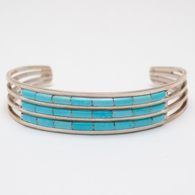 Channel Inlay Turquoise Bracelet