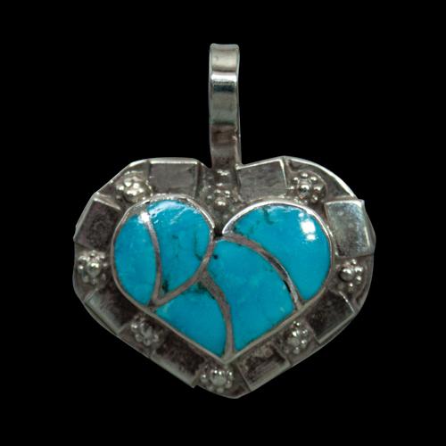Craig Haloo Turquoise Heart Pendant