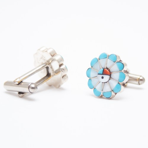 Turquoise Mother-of-Pearl Cufflinks