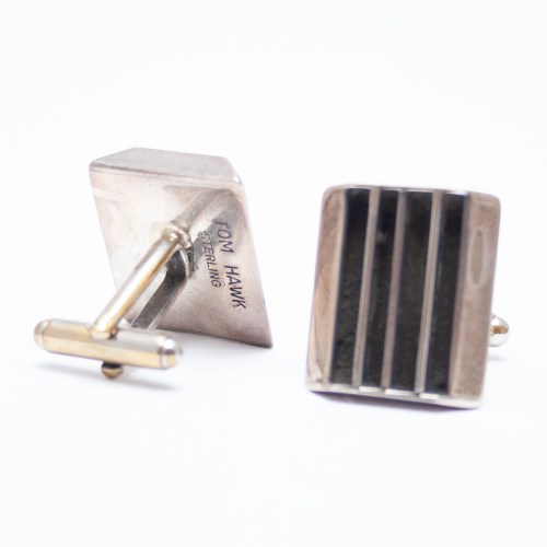 Tom Hawk Hopi Silver Cufflinks