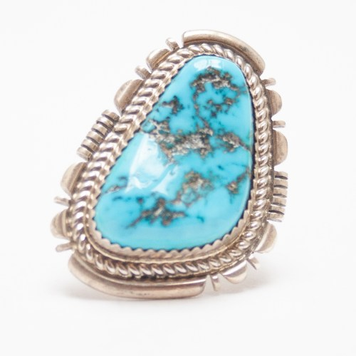 Triangular Turquoise Ring