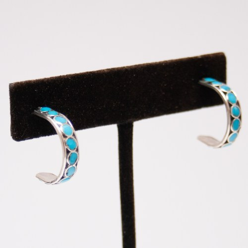 Small Turquoise Hoops