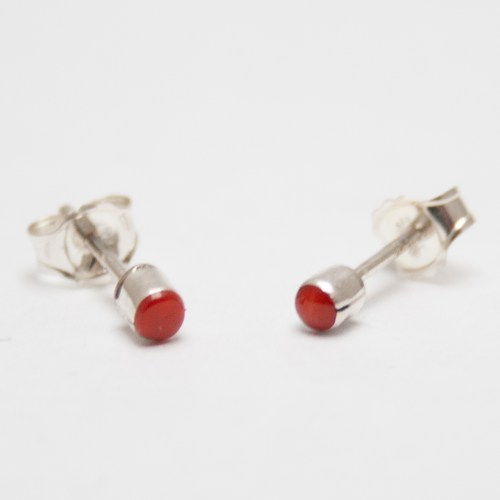 Small Coral Studs