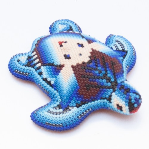 Blue Huichol Turtle