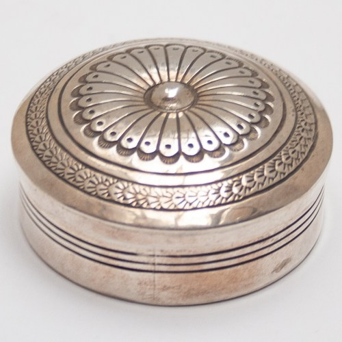 Round Silver Pocket Box