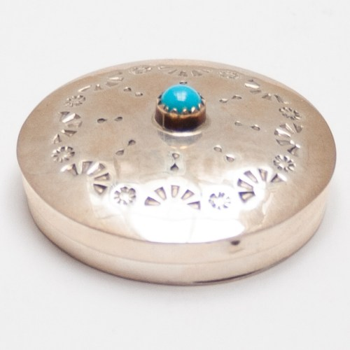 Silver Turquoise Snuff Box