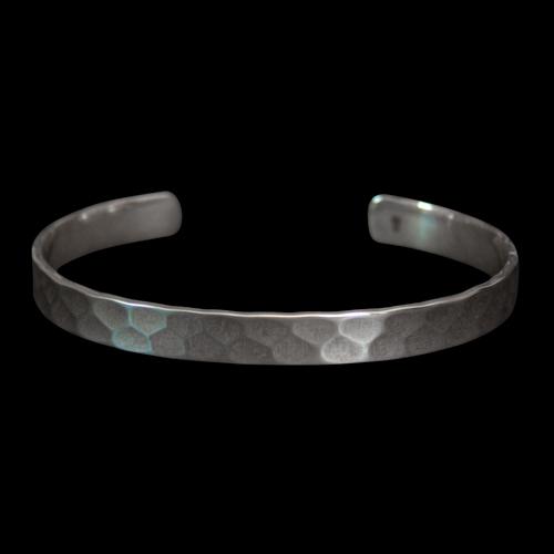 Navajo Hammered Silver Bracelet