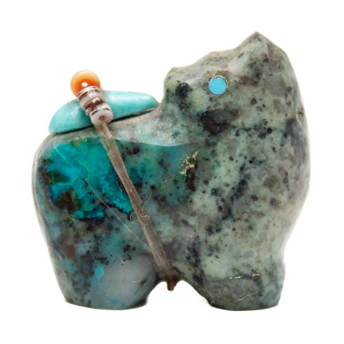 Eddington Hannaweeke Chrysocolla Bear Carving