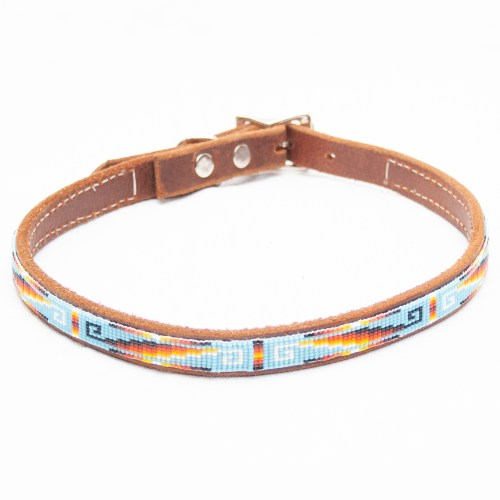 Large Beaded Dog Collar