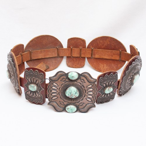 Vintage Kirk Smith Navajo Turquoise Belt