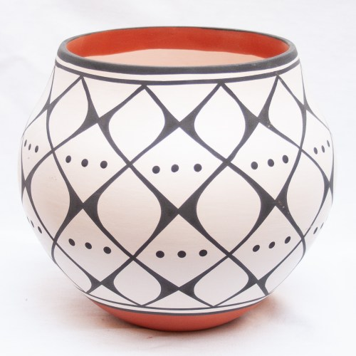 Native Black White Pottery