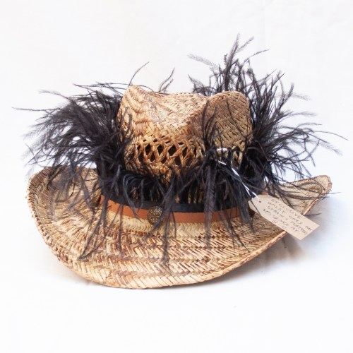 Black Ostrich Feather Hat