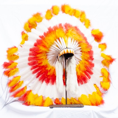 White Red Orange Headdress