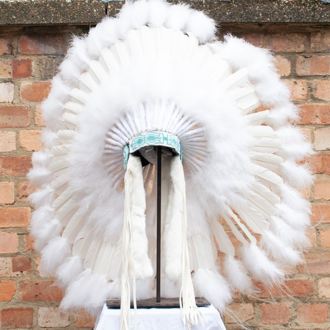 Navajo White Feather Headdress