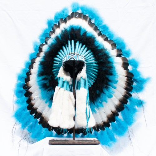 Blue Feather Headdress