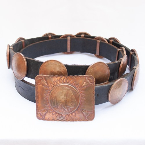 Copper Coin Concho Belt