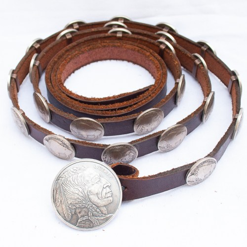 Vintage Nickel Concho Belt
