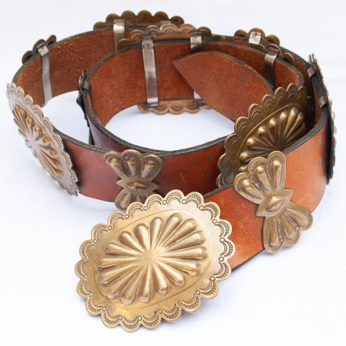 Vintage Brass Concho Belt