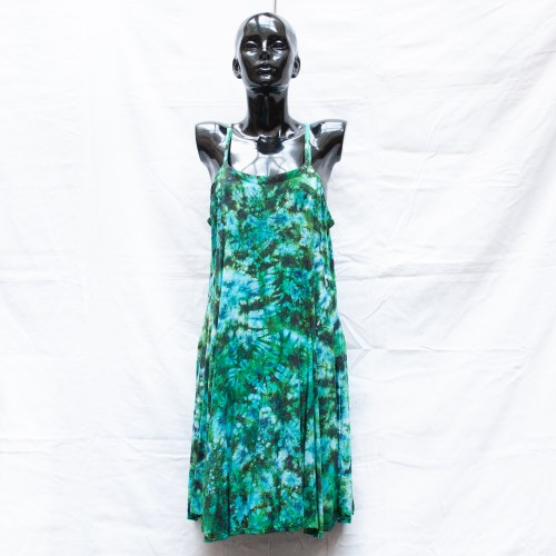 Green Tie-Dye Dress M