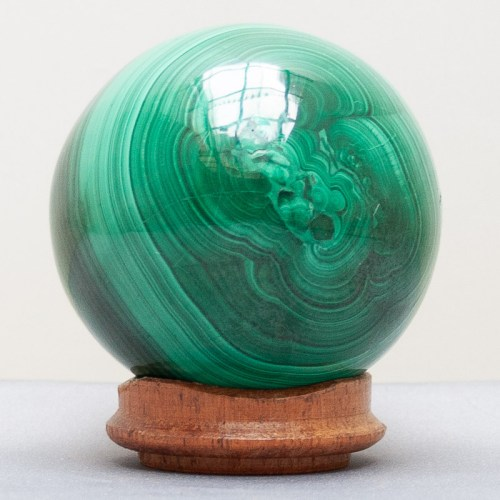 Small Malachite Crystal Ball