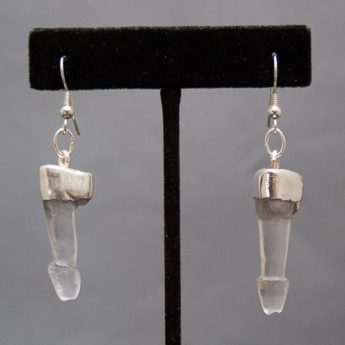 Quartz Phallic Earrings