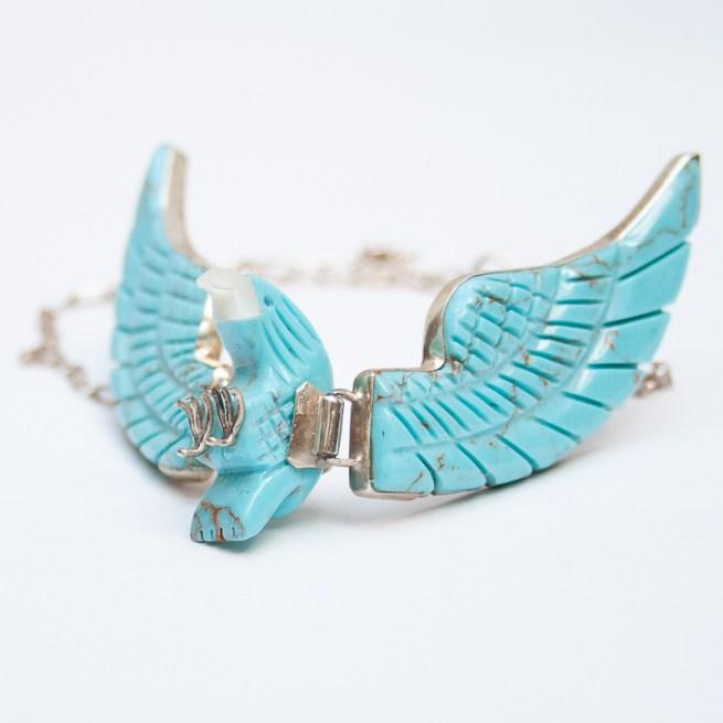Large Turquoise Eagle Necklace