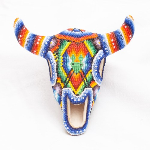 Huichol Beaded Buffalo Head