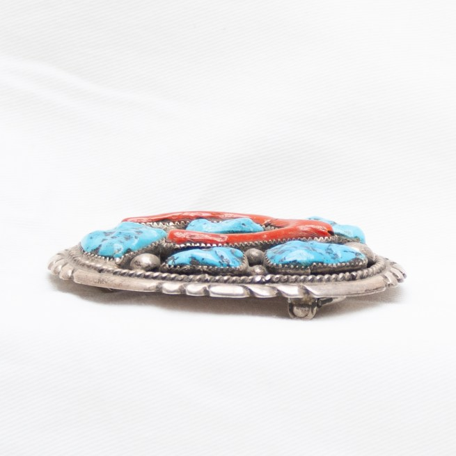 Coral Turquoise Belt Buckle