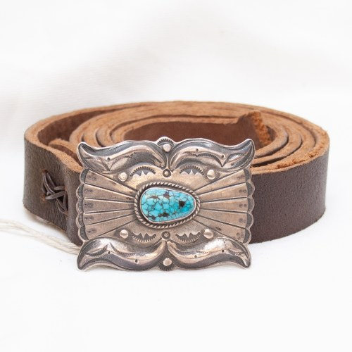 Dolgarito Silver Turquoise Buckle