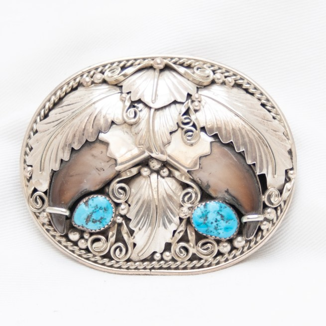 Bear Claw Turquoise Buckle