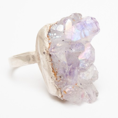 Angel Aura Amethyst Ring
