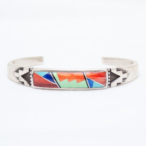 Multicolour Inlay Zuni Bracelet