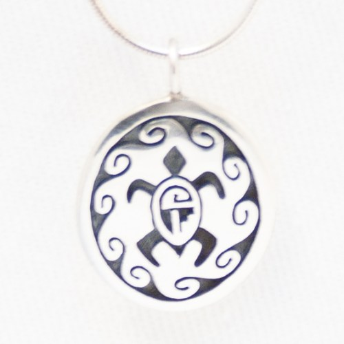 Silver Turtle Medallion